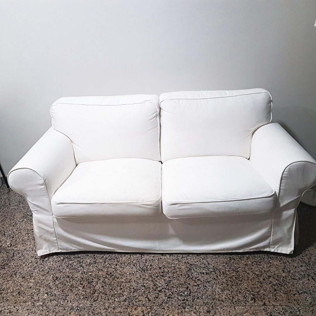 Ikea Ektorp 2 Seat Sofa White