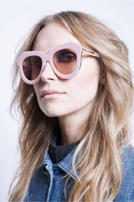 Karen Walker oversized sunglasses One Meadow dusty pink