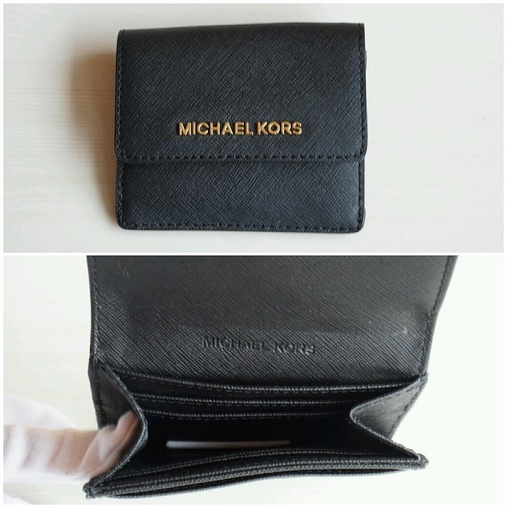 d438a4ab6255 michael kors jet set travel card case id key holder size 10.5x9, Luxury,  Bags & Wallets on Carousell