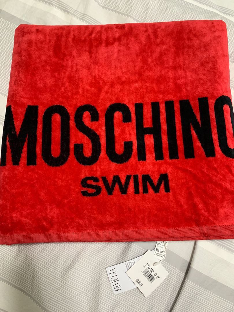 d16f596b556d MOSCHINO Beach Towel, Luxury, Accessories, Others on Carousell