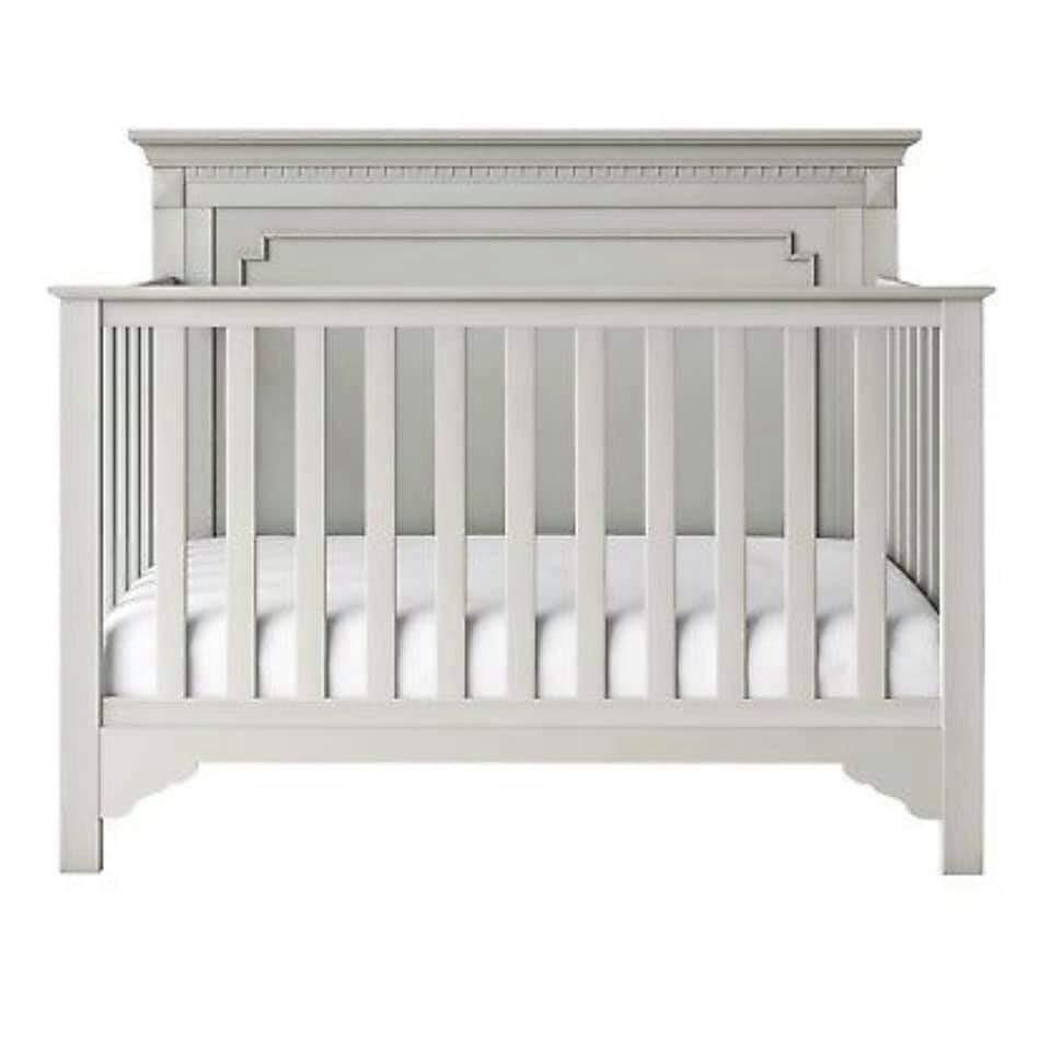 *NEW* Edgemont baby relax 5 in 1 Convertible crib. Soft gray