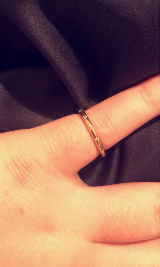 Pandora gold droplets ring