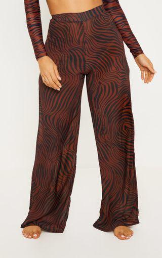 PLT Rust Zebra Wide Leg Trouser