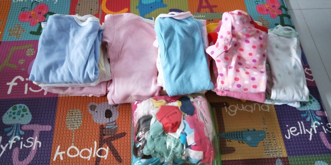 f2f4361fe1ec7 Preloved (64pcs) Baby Girl Clothes, Babies & Kids, Babies Apparel on  Carousell