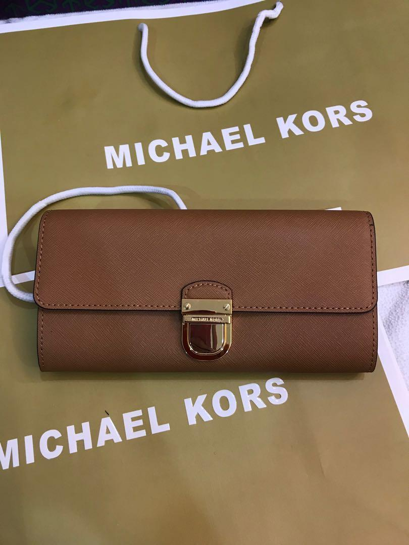 Ready stock authentic Michael kors wallet mk clutch pouch