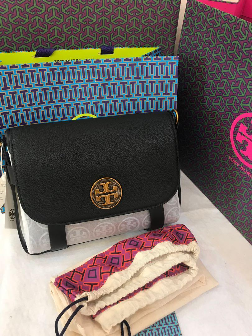 Ready stock authentic Tory Burch Alastair pebbled leather bag