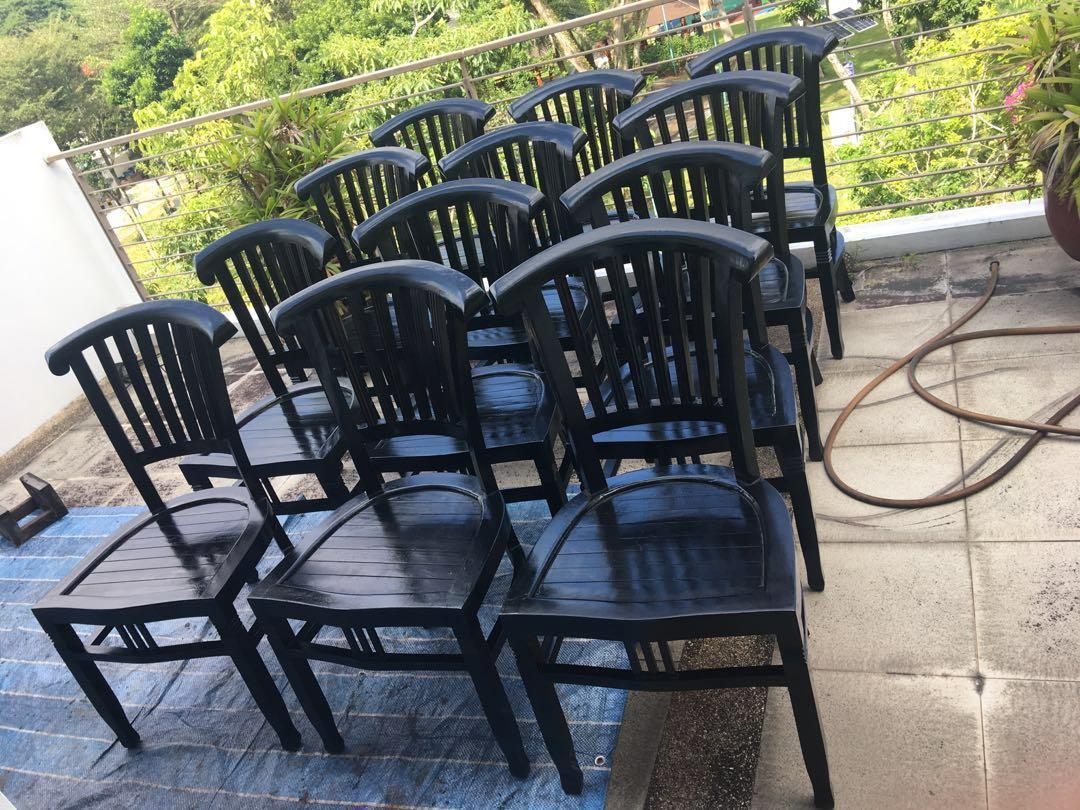 Restored Teak Chairs (Outdoor or Indoor)