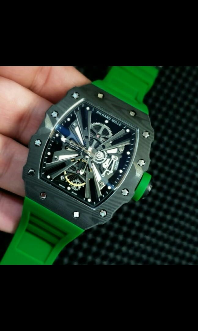 Richard Mille 12-01 Rubber strap Automatic