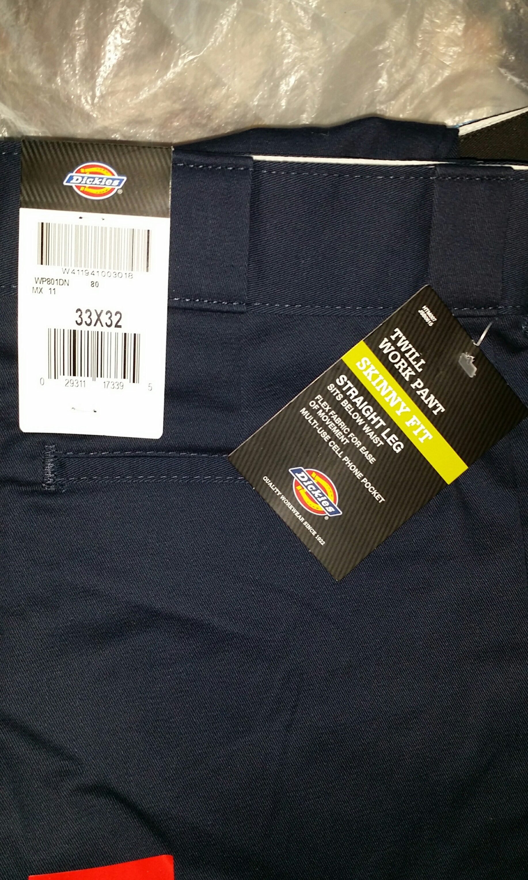 fbe6ad5e0e0 Size 33 Dickies 801 Skinny Fit Multi Pocket Work pants navy