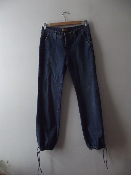 Tommy Hilfiger straight leg drawstring ankle Jeans s7