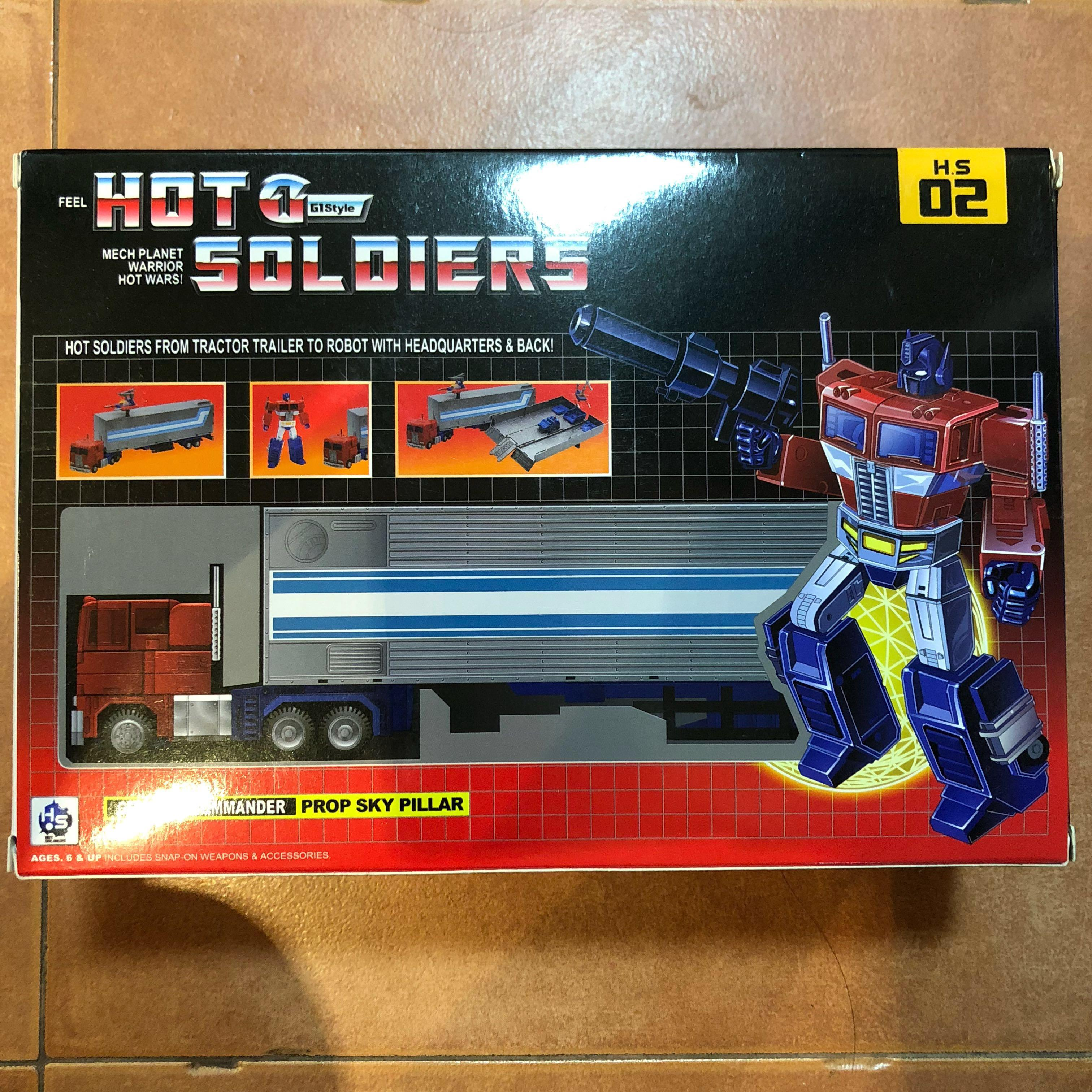 Transformers Hot Soldiers - HS-02 Optimus Prime (MISB) plus