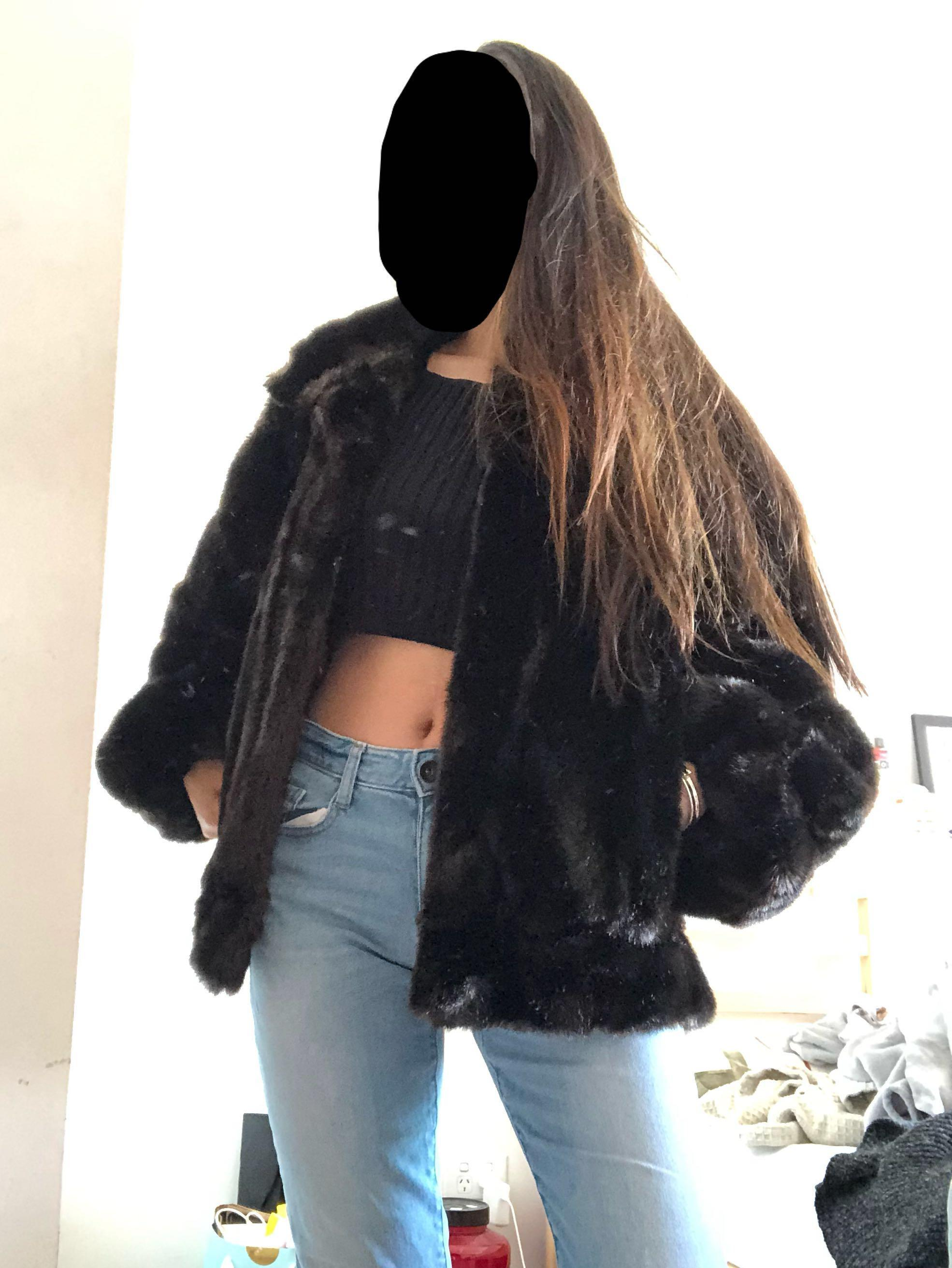 Vintage Faux Fur Coat Made in USA