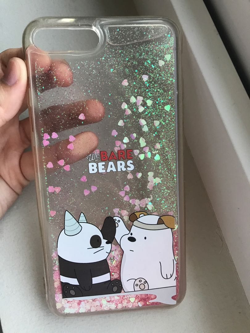 quality design 55844 b0ce5 We Bare Bears Water Glitter Iphone 7+ Case