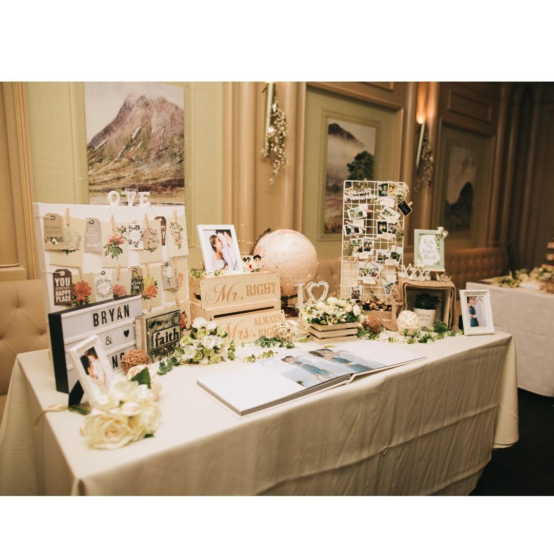 Terrific Wedding Decoration Display Table Garden Theme On Carousell Home Remodeling Inspirations Cosmcuboardxyz