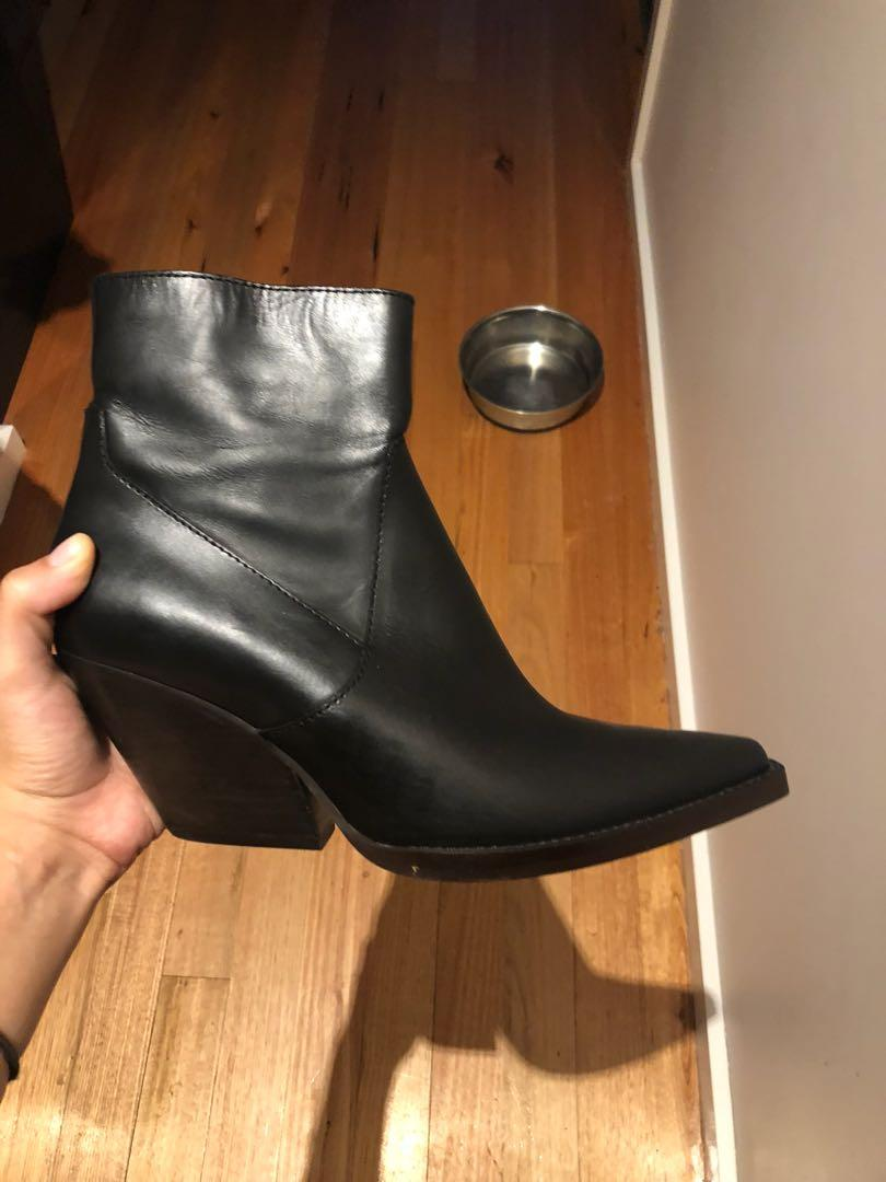 Zara Leather Cowboy boots