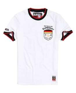 🚚 FLASH DEAL- Superdry tee t-shirt in White - Germany trophy