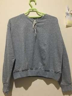 Grey Tied Sweater