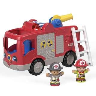 (In-Stock) Fisher-Price Little People Helping Others Fire Truck Playset (Brand New)