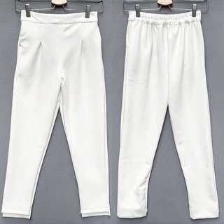 White Midi Pants
