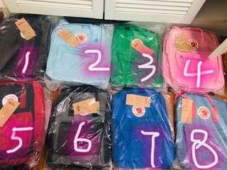 $66 for 3 PCs instocks fjallraven kanken school bag