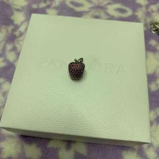 Pandora 蘋果 閃石 charm