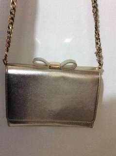 🚚 Charles and Keith gold crossbody bag