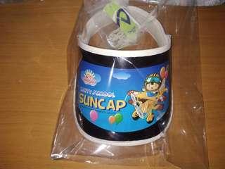 Sun cap 小童太陽膠片帽(米白色)