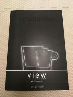 Nespresso View collection 玻璃咖啡杯 一套四隻