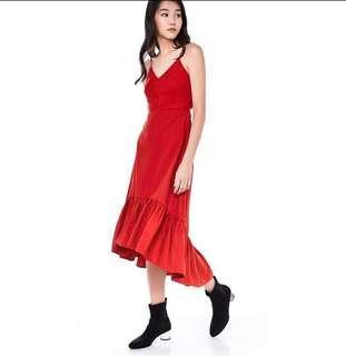 Charlotte Midi Dress Scarlet TEM