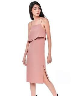 Andreane Layered Dress Dust Pink TEM