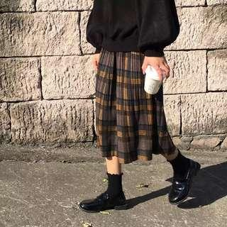 🚚 格子 百摺裙 #十二月女裝半價