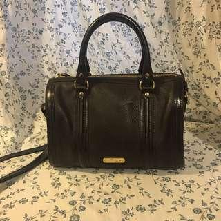 100%real 85%new Burberry Boston leather bag