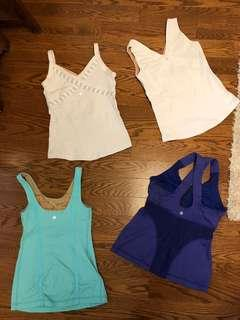 Lulu Lemon Active Wear Tank Tops