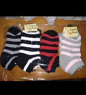 間條款毛巾船襪 一包(12對)