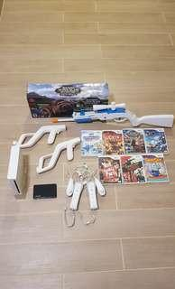 Wii full set with modified 120 games + 7cd games
