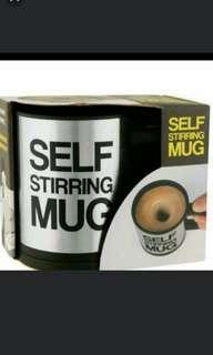 創意 不锈鋼 自動攪拌杯, 自動攪拌咖啡杯 保溫杯 懶人杯   Self Stirring MUG (紅/黑)