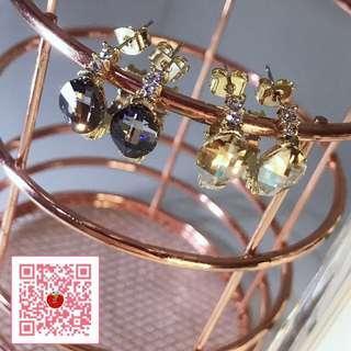 清倉特價 亮鑽貴氣環狀925銀穿式耳針耳環