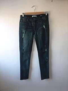 Kenneth Cole acid wash skinny jeans size 4