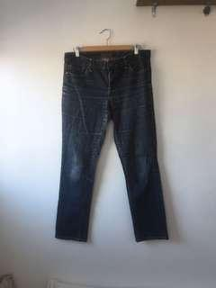 Tommy med wash straight jeans size 10R