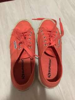 Superga orange sneakers