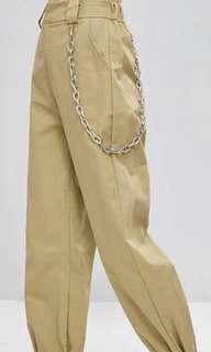 Beige Cargo Pants (xs) - comes with chain