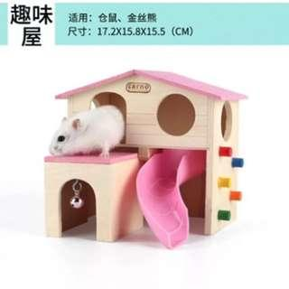 Pink color hamster fun house