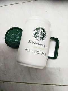 Starbucks Inspired Mug with Lid