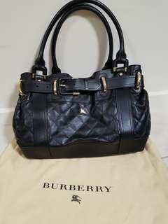 Authentic Burberry quilted leather bag