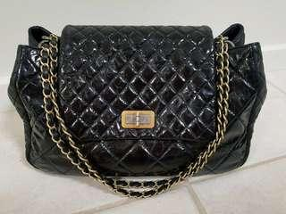 Authentic Chanel reissue accordian large shopping tote