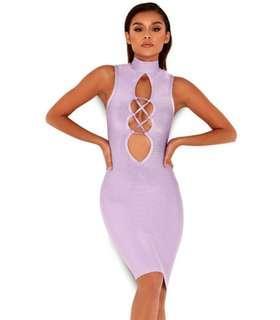 Lilac bandage dress - size small