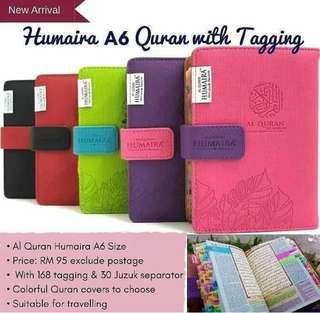 Quran Tagging Humaira Nafeesa - 168 Tagging (A6 size)