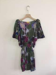 Catherine Malandrino printed floral dress size 4