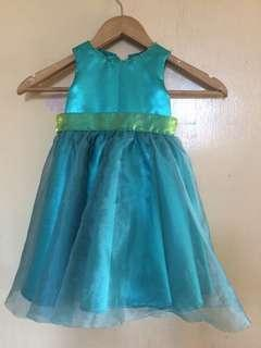 Teal Gown for toddler