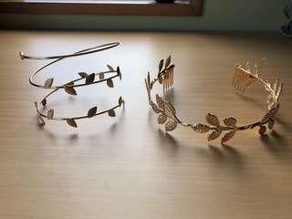 Gold Leaf Toga Party Headband & Arm cuff